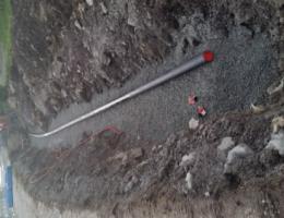 Legging av 160 PE vannledning