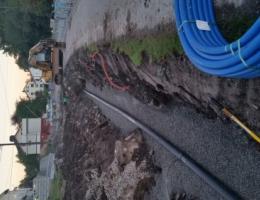 Legging av vannledning