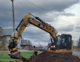 Trauing av jord i gangveg